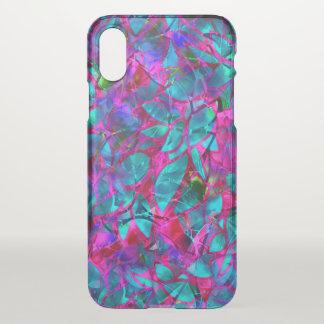 Capa Para iPhone X vitral floral do caso do iPhone X claramente
