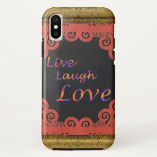 Capa Para iPhone X Vive o amor do riso