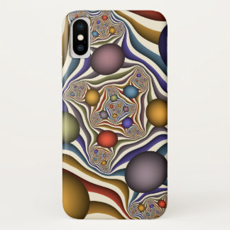 Capa Para iPhone X Voando acima, arte colorida, moderna, abstrata do