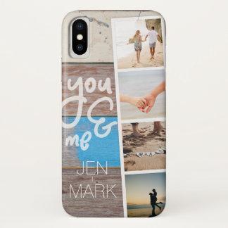 Capa Para iPhone X Você & mim. Colagem da foto das memórias. Painel