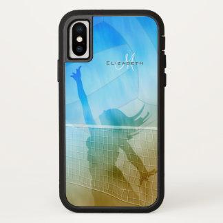 Capa Para iPhone X voleibol de praia das mulheres do céu do surf da
