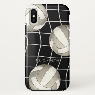 Capa Para iPhone X voleibol e o vball líquido de mulheres brancas da