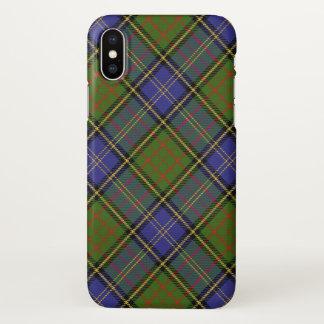 Capa Para iPhone X Xadrez de Tartan escocesa da caça de MacMillan do