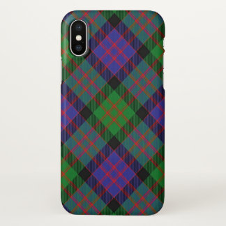 Capa Para iPhone X Xadrez de Tartan escocesa de Donald MacDonald do