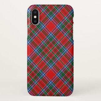 Capa Para iPhone X Xadrez de Tartan escocesa de MacBean do clã