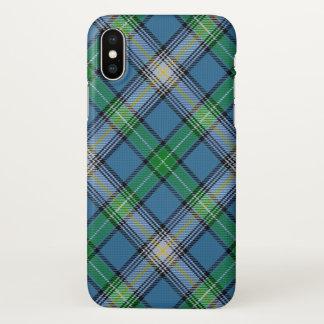 Capa Para iPhone X Xadrez de Tartan escocesa de MacDowall do clã