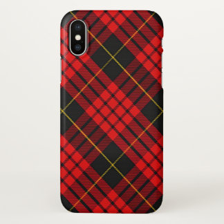 Capa Para iPhone X Xadrez de Tartan escocesa de MacQueen do clã