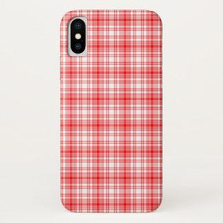 Capa Para iPhone X Xadrez vermelha
