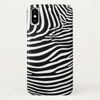 Capa Para iPhone X Zebra Animalprint…