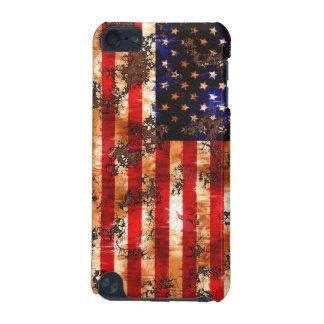 Capa Para iPod Touch 5G Bandeira americana oxidada resistida