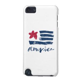 Capa Para iPod Touch 5G Bandeira americana Paintstrokes