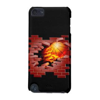 Capa Para iPod Touch 5G Basquetebol que rebenta através da parede de