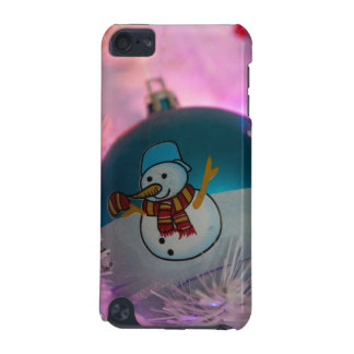 Capa Para iPod Touch 5G Boneco de neve - bolas do Natal - Feliz Natal