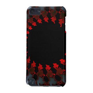 Capa Para iPod Touch 5G Branco preto vermelho do Fractal
