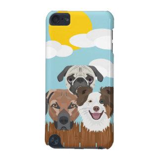 Capa Para iPod Touch 5G Cães afortunados da ilustração em uma cerca de