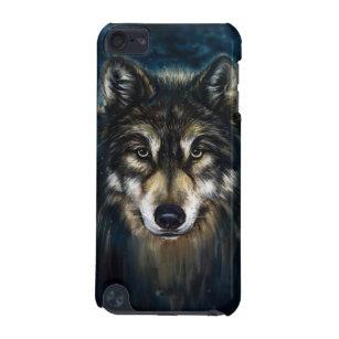 Capa Para iPod Touch 5G Caso artístico do ipod touch 5G da cara do lobo