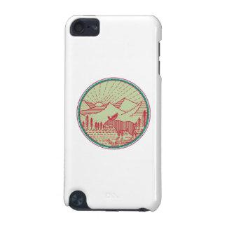 Capa Para iPod Touch 5G Círculo de Sun das montanhas do rio dos alces