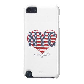 Capa Para iPod Touch 5G Coração da bandeira americana de NYC