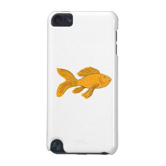 Capa Para iPod Touch 5G Desenho da natação de Koi da borboleta do ouro
