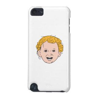 Capa Para iPod Touch 5G Desenho de sorriso principal da criança caucasiano