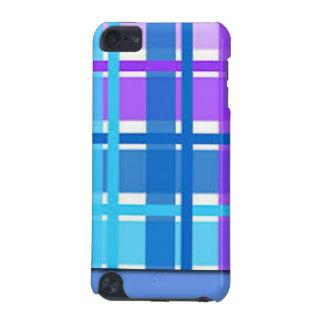 Capa Para iPod Touch 5G Design azul & roxo da xadrez