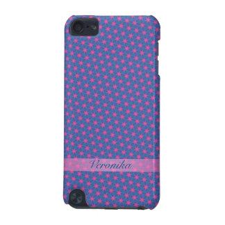 Capa Para iPod Touch 5G Estrelas cor-de-rosa em um fundo azul