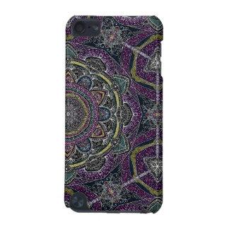 Capa Para iPod Touch 5G Estrelas sagrados e laço da mandala roxos e pretos