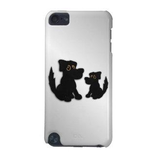 Capa Para iPod Touch 5G Família de cão preto