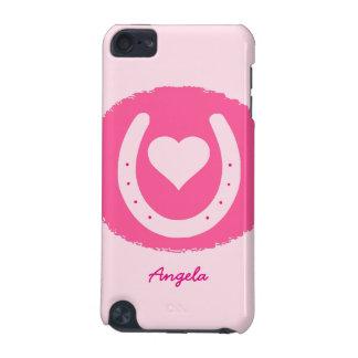 Capa Para iPod Touch 5G ferradura e coração cor-de-rosa