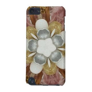 Capa Para iPod Touch 5G Flor branca do ouro cor-de-rosa antigo elegante