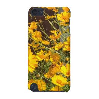 Capa Para iPod Touch 5G Flores amarelas felizes brilhantes em um grupo