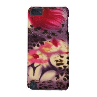 Capa Para iPod Touch 5G Flores cor-de-rosa & design do leopardo