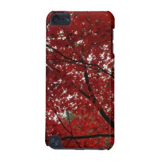 Capa Para iPod Touch 5G Folhas de outono vermelhos marrom do Outono da