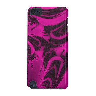 Capa Para iPod Touch 5G Fractal cor-de-rosa e preto