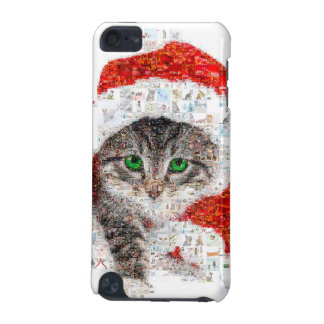 Capa Para iPod Touch 5G gato de Papai Noel - colagem do gato - gatinho -