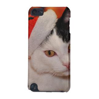 Capa Para iPod Touch 5G Gato de Papai Noel - Feliz Natal - gato do animal