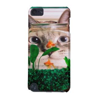 Capa Para iPod Touch 5G Gato e peixes - gato - gatos engraçados - gato