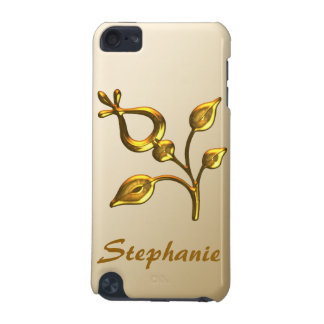 Capa Para iPod Touch 5G Jóia floral do ouro personalizada