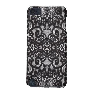 Capa Para iPod Touch 5G laço floral chique feminino boémio do preto do