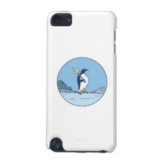 Capa Para iPod Touch 5G Linha do círculo de Antartica da pá do pinguim de