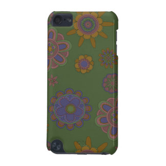 Capa Para iPod Touch 5G Malva & flores do ouro