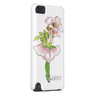 Capa Para iPod Touch 5G Menina bonito engraçada floral da flor cor-de-rosa