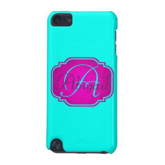 Capa Para iPod Touch 5G Monograma - cor-de-rosa customizável e azul