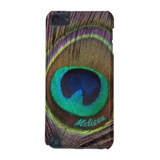 Capa Para iPod Touch 5G Olho bonito da pena do pavão, seu nome