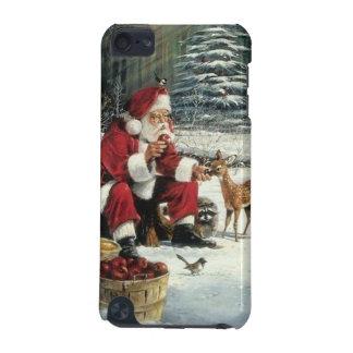 Capa Para iPod Touch 5G Pintura de Papai Noel - arte do Natal