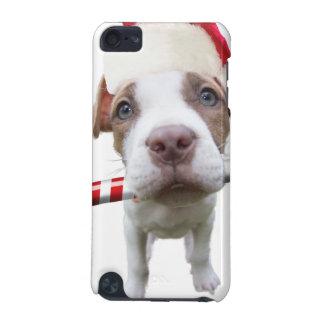 Capa Para iPod Touch 5G Pitbull do Natal - pitbull do papai noel - cão de