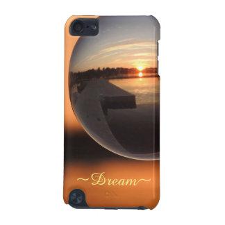 Capa Para iPod Touch 5G Por do sol sobre a bola de cristal da água - sonho