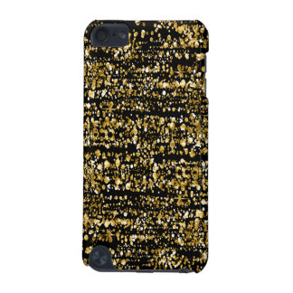 Capa Para iPod Touch 5G Preto & brilho & Sparkles do falso do ouro