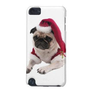 Capa Para iPod Touch 5G Pug do Natal - cão de Papai Noel - persiga claus
