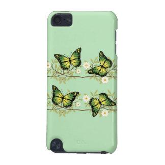 Capa Para iPod Touch 5G Quatro borboletas verdes